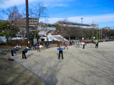 新牛田公園準備体操