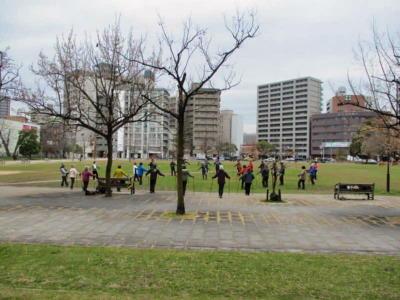 東千田公園準備体操